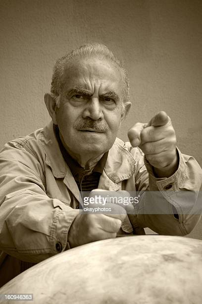 angry turkish man - hairy old man stock pictures, royalty-free photos & images