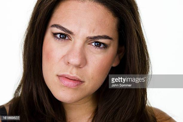 angry woman giving a dirty look - sneering stock pictures, royalty-free photos & images