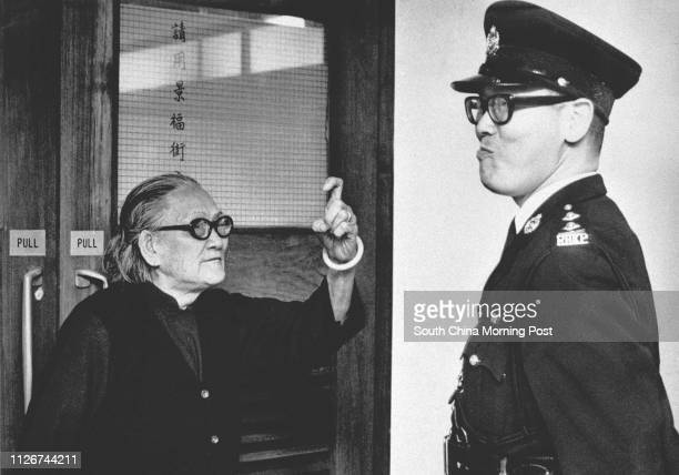 Angry workers besieged the Labour Department office in San Po Kong in 1972 during a dispute over pay This elderly lady showed a policeman just how...