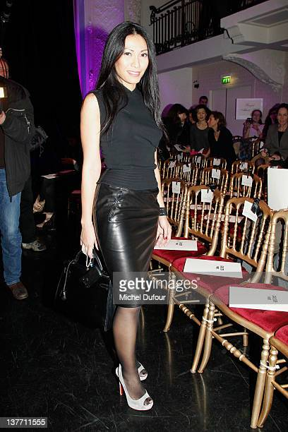 Angun attends the Jean Paul Gaultier Spring/Summer 2012 HauteCouture Show as part of Paris Fashion Week on January 25 2012 in Paris France