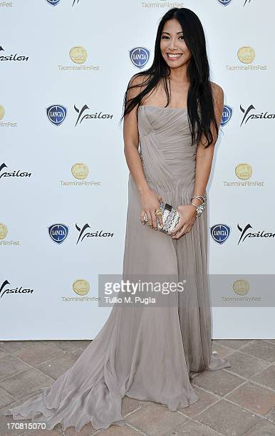 Angun attends the Lancia Cafe during the Taormina Filmfest 2013 on June 18 2013 in Taormina Italy