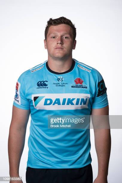 Angus Bell poses during the 2019 Waratahs Super Rugby headshots session on January 23 2019 in Sydney Australia