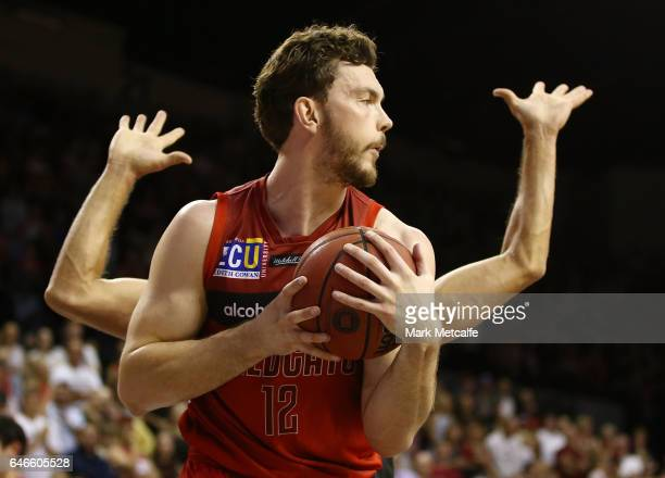 Angus Brandt of the WIldcats in action during game two of the NBL Grand Final series between the Perth Wildcats and the Illawarra Hawks at WIN...