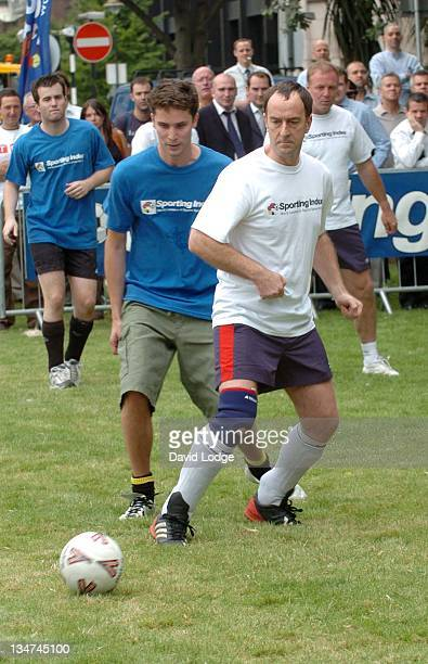 Angus Deaton during Sporting Index Celebrity Football Match at Finsbury Square London in London Great Britain