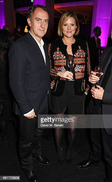 Angus Deayton and Charlotte Griffiths attend the after party for 'Suffragette' on the opening night of the BFI London Film Festival at Old...
