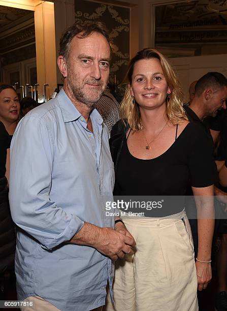 Angus Deayton and guest attend the press night after party for 'David Baddiel My Family Not The Sitcom' at the Vaudeville Theatre on September 15...