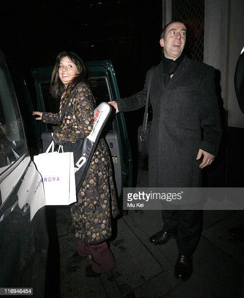 Angus Deayton and guest during Celebrity Sightings at The Ivy Restaurant in London January 18 2006 at Ivy Restaurant in London Great Britain