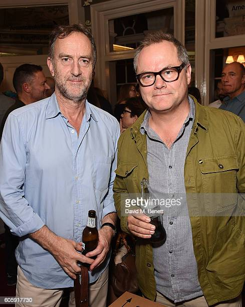 Angus Deayton and Jack Dee attend the press night after party for 'David Baddiel My Family Not The Sitcom' at the Vaudeville Theatre on September 15...