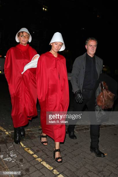 Angus Deayton and Jemima Khan attending Rita Ora's Halloween party at Laylow on October 31 2018 in London England