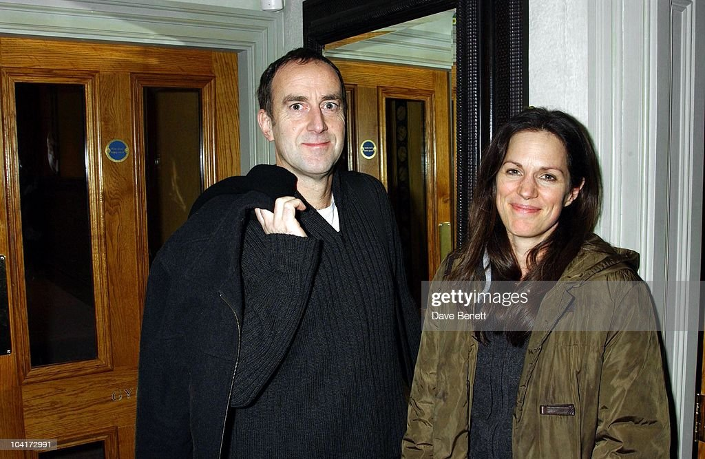 Angus Deayton And Partner Lisa Mayer, 'Triggermen' Premiere At The Charlotte Street Hotel In London