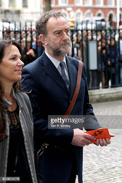 Angus Deayton attends a memorial service for the late Sir Terry Wogan at Westminster Abbey on September 27 2016 in London England