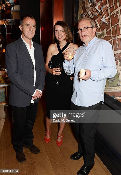 Angus Deayton Charlotte de Botton and Harry Enfield attend a cocktail party hosted by Helen Fielding celebrating the millionth copy of her book...