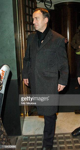 Angus Deayton during Celebrity Sightings at The Ivy Restaurant in London January 18 2006 at Ivy Restaurant in London Great Britain
