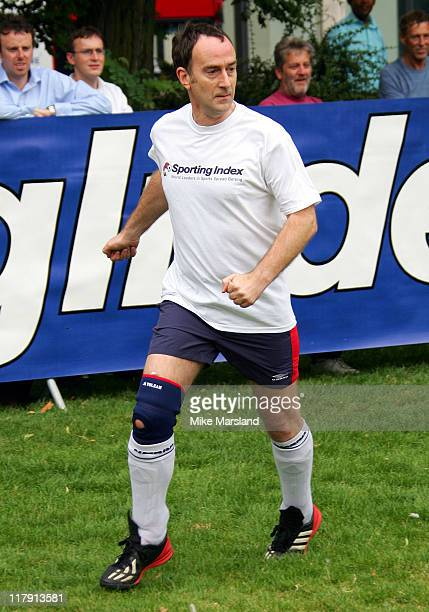 Angus Deayton during Sporting Index Celebrity Football Match to Raise Money for Street League at Finsbury Square in London Great Britain