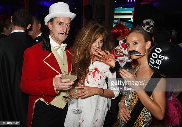 Angus Deayton Jemima Khan and Martha Ward attend The Unicef UK Halloween Ball raising vital funds to support Unicef's lifesaving work for Syrian...