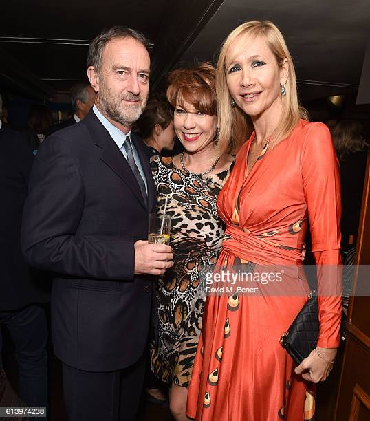 Angus Deayton Kathy Lette and Tania Bryer attend the launch of 'Desire 100 Of Literature's Sexiest Stories' hosted by Tatler and selected by Mariella...