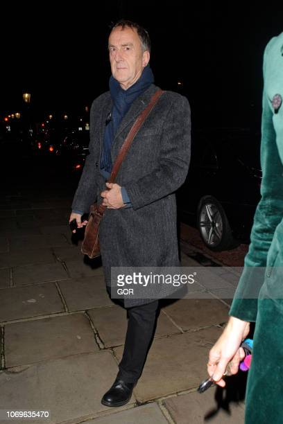 Angus Deayton seen attending the Evgeny Lebedev Christmas Party in North London on December 7 2018 in London England