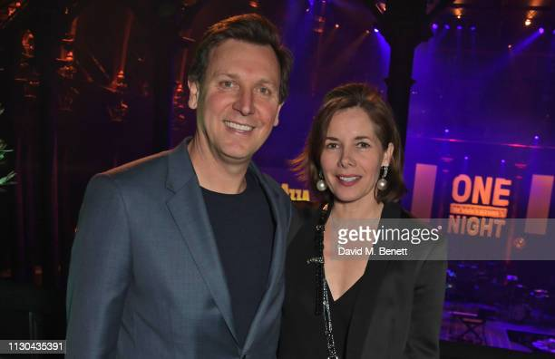 Angus Forbes and Dame Darcey Bussell attend the Roundhouse Gala an evening raising money for the venue's charitable work with young people at The...