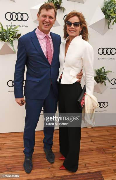 Angus Forbes and Darcey Bussell attend the Audi Polo Challenge at Coworth Park on May 6 2017 in Ascot United Kingdom