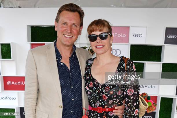 Angus Forbes and Darcey Bussell attend the Audi Polo Challenge at Coworth Park Polo Club on July 1 2018 in Ascot England