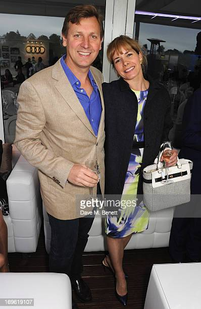 Angus Forbes and Darcey Bussell attend the Audi Royal Polo Challenge 2013 at Chester Racecourse on May 29 2013 in Chester England
