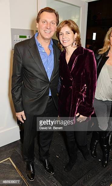 Angus Forbes and Darcey Bussell attend the launch of the Amanda Wakeley London flagship store on January 30 2014 in London England