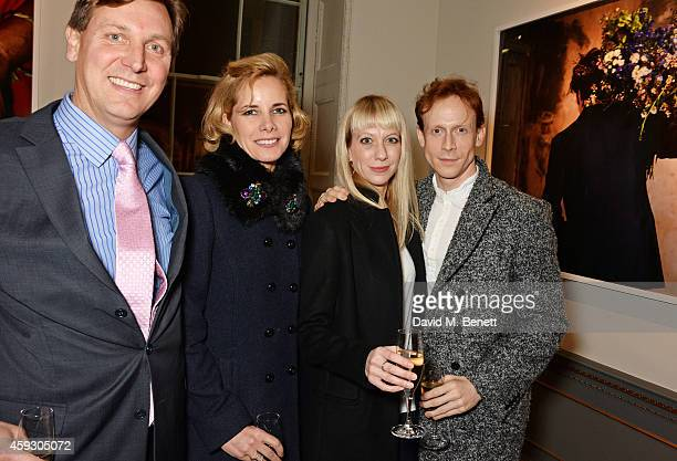 Angus Forbes Darcey Bussell guest and Edward Watson attend the book launch and private view of Mary McCartney Monochrome And Colour curated by De...