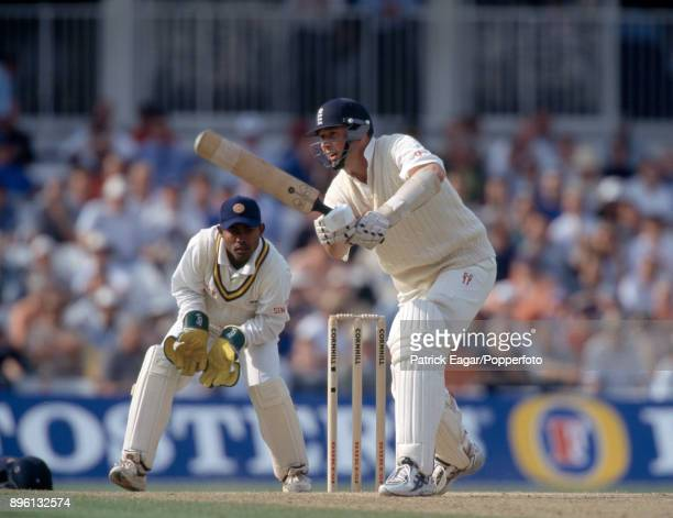 Angus Fraser batting for England during the only Test match between England and Sri Lanka at The Oval London 28th August 1998 Fraser reached his...