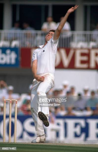 Angus Fraser bowling for England during the 3rd Test match between England and India at The Oval London 24th August 1990 The match ended in a draw