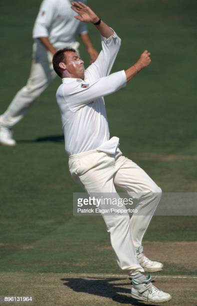 Angus Fraser bowling for Middlesex during the Britannic Assurance County Championship match between Middlesex and Surrey at Lord's Cricket Ground...