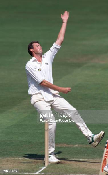Angus Fraser bowling for Middlesex during the County Championship match between Middlesex and Warwickshire at Lord's Cricket Ground London 30th May...