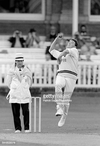 Angus Fraser of Middlesex bowling for Marylebone Cricket Club during the preseason match between MCC and Worcestershire at Lord's Cricket Ground...