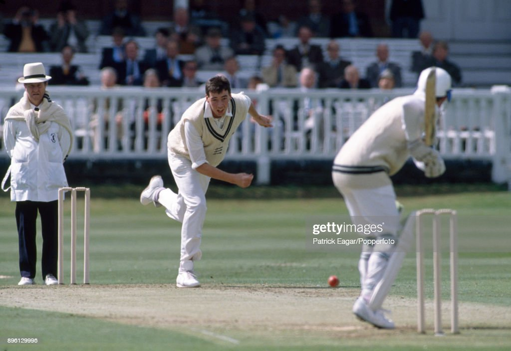 Angus Fraser Of Middlesex Bowling For Marylebone Cricket