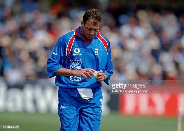 Angus Fraser preparing to bowl during the ICC Cricket World Cup group match between England and Zimbabwe at at Trent Bridge Nottingham 25th May 1999