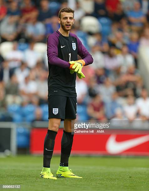 Angus Gunn of England U21 during the UEFA European U21 Championship Qualifier Group 9 match between England U21 and Norway U21 at Colchester...