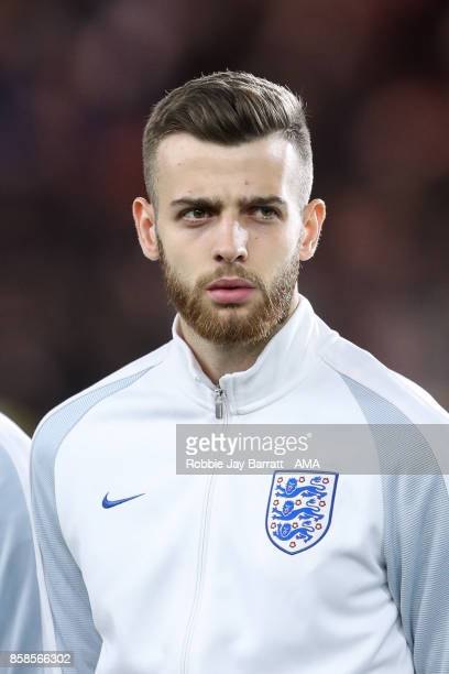 Angus Gunn of England U21 during the UEFA European Under 21 Championship Qualifiers fixture between England U21 and Scotland U21 at Riverside Stadium...