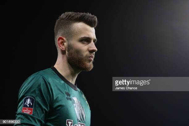 Angus Gunn of Norwich City looks on during the The Emirates FA Cup Third Round match between Norwich City and Chelsea at Carrow Road on January 6...