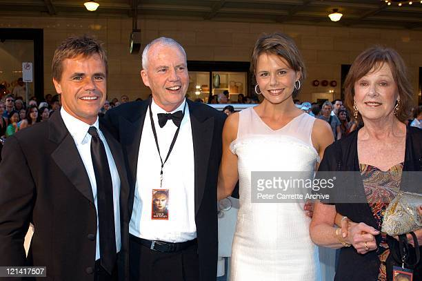 Angus Hawley, Antony Kidman, Antonia Kidman and Janelle Kidman arrive for the Australian premiere of the film 'Cold Mountain' at the State Theatre on...