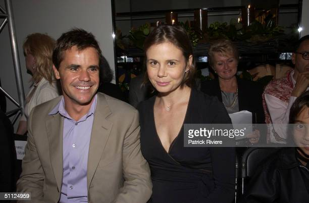 Angus Hawley with wife Antonia Kidman at Australian Fashion Designer Lisa Ho's presentation of her high Summer 2003 2004 range at her Woollahra store...