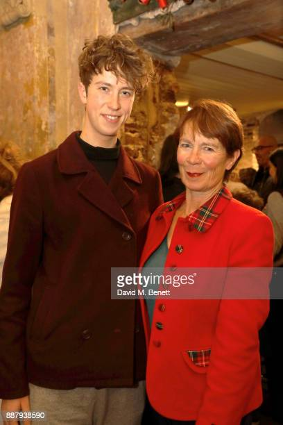 """Angus Imrie and Celia Imrie attend a drinks reception during the press night performance of """"The Box Of Delights"""" at Wilton's Music Hall on December..."""