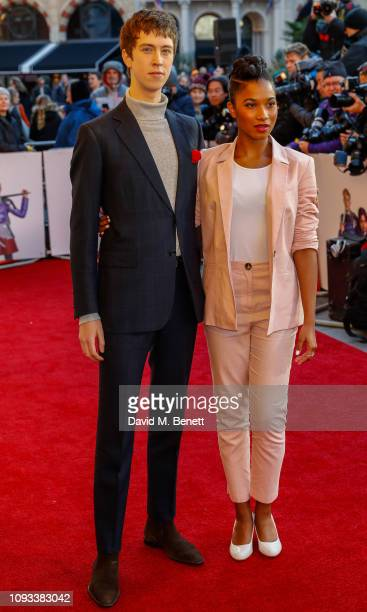 """Angus Imrie and Rhianna Dorris attend a gala screening of """"The Kid Who Would Be King"""" held at Odeon Leicester Square on February 3, 2019 in London,..."""