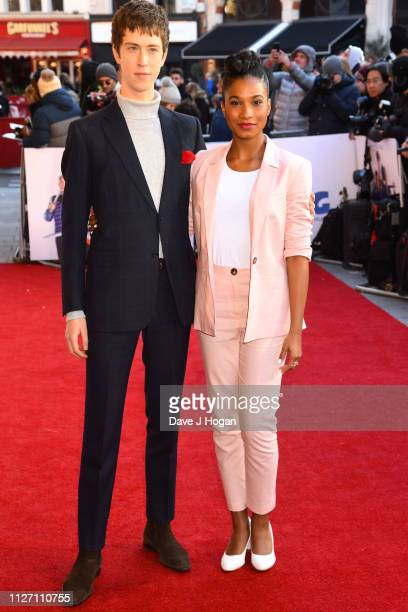 """Angus Imrie and Rhianna Dorris attend a gala screening of """"The Kid Who Would Be King"""" held at Odeon Leicester Square on February 03, 2019 in London,..."""
