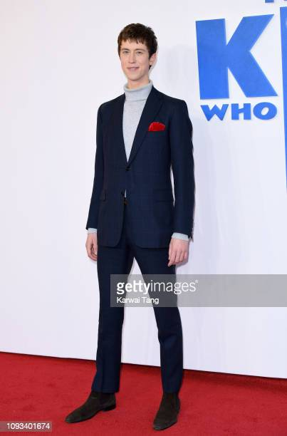 """Angus Imrie attends a gala screening of """"The Kid Who Would Be King"""" held at Odeon Leicester Square on February 3, 2019 in London, England."""