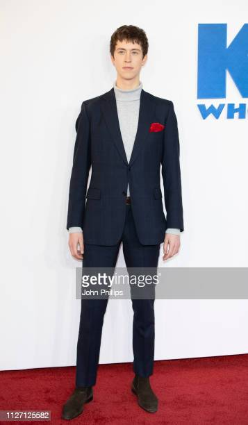"""Angus Imrie attends a gala screening of """"The Kid Who Would Be King"""" held at Odeon Leicester Square on February 03, 2019 in London, England."""