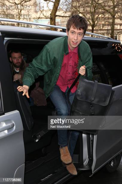 Angus Imrie seen at Global Radio Studios for Heart Breakfast on February 06, 2019 in London, England.