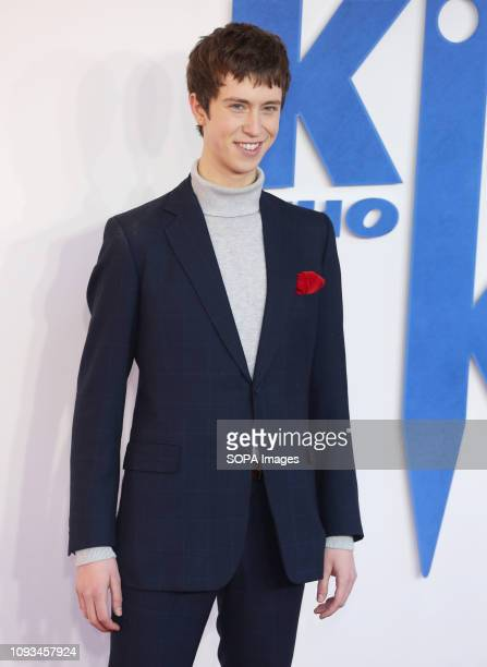 Angus Imrie seen attending a Family Gala Screening of The Kid Who Would Be King at Odeon Luxe Leicester Square in London.