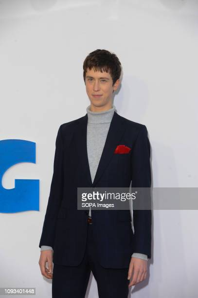 Angus Imrie seen on the red carpet during the film première of The Kid Who Would Be King at the Odeon Cinema Leicester Square in London.