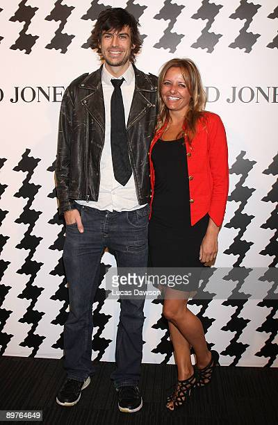 Angus Kennett and Zoe Badwi arrive at the David Jones Spring/Summer 2009 Season Launch at Central Pier Docklands on August 13 2009 in Melbourne...
