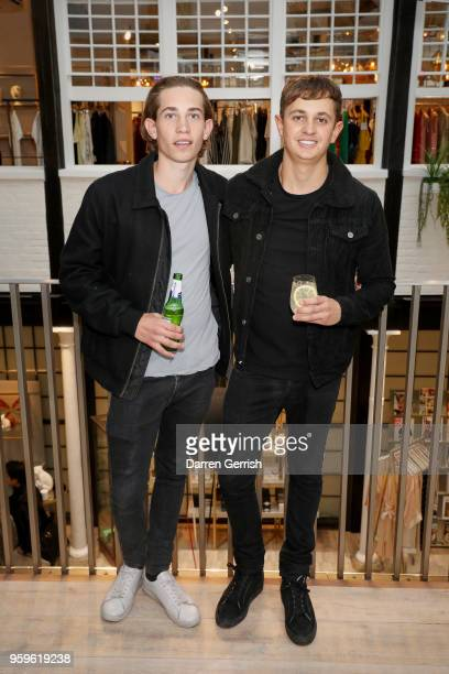 Angus Lineker and George Lineker attend the Shop at Bluebird Covent Garden launch party at The Carriage Hall on May 17 2018 in London England