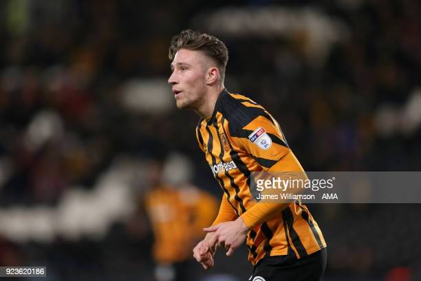 Angus MacDonald of Hull City during the Sky Bet Championship match between Hull City and Sheffield United at KCOM Stadium on February 23 2018 in Hull...